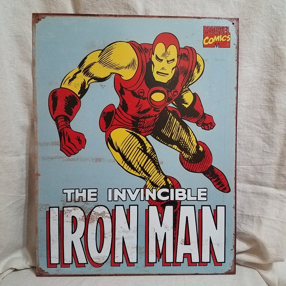 Marvel Comics Iron Man Retro Tin Sign